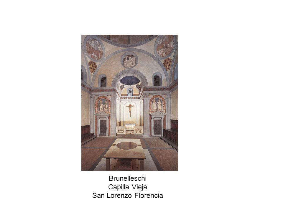 Brunelleschi Capilla Vieja San Lorenzo Florencia