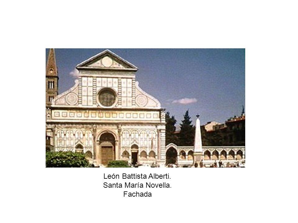 León Battista Alberti. Santa María Novella. Fachada