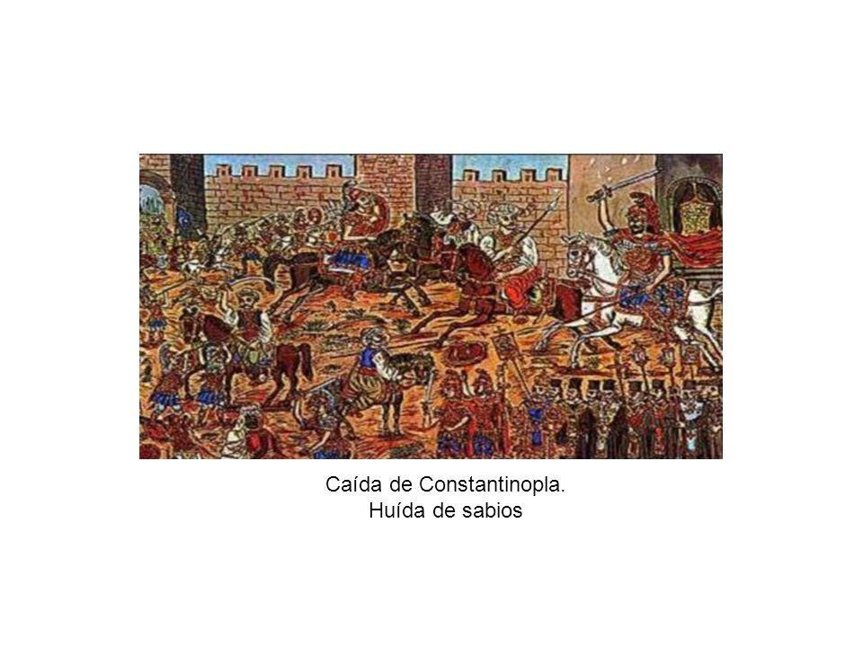 Caída de Constantinopla. Huída de sabios