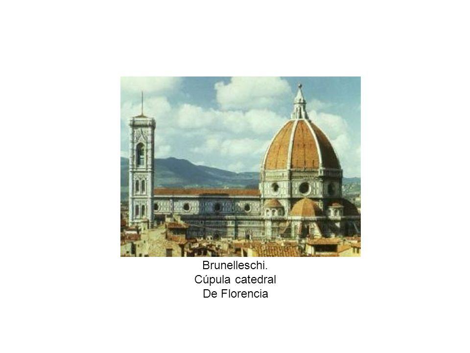 Brunelleschi Cúpula catedral de Florencia Estructura interior Exterior