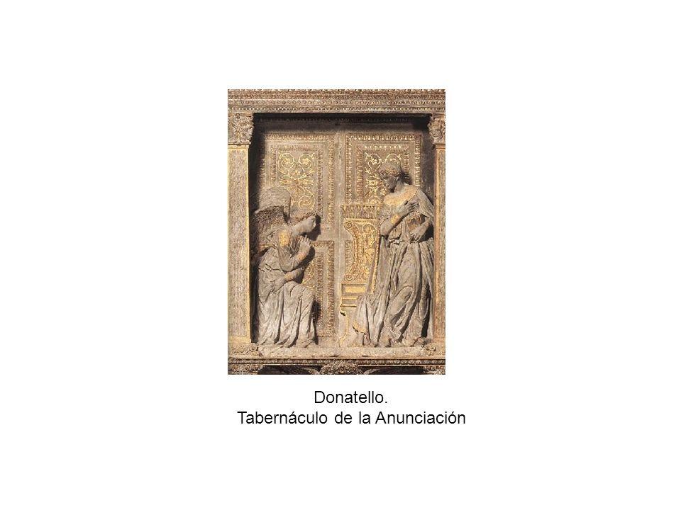 Donatello. Tabernáculo de la Anunciación