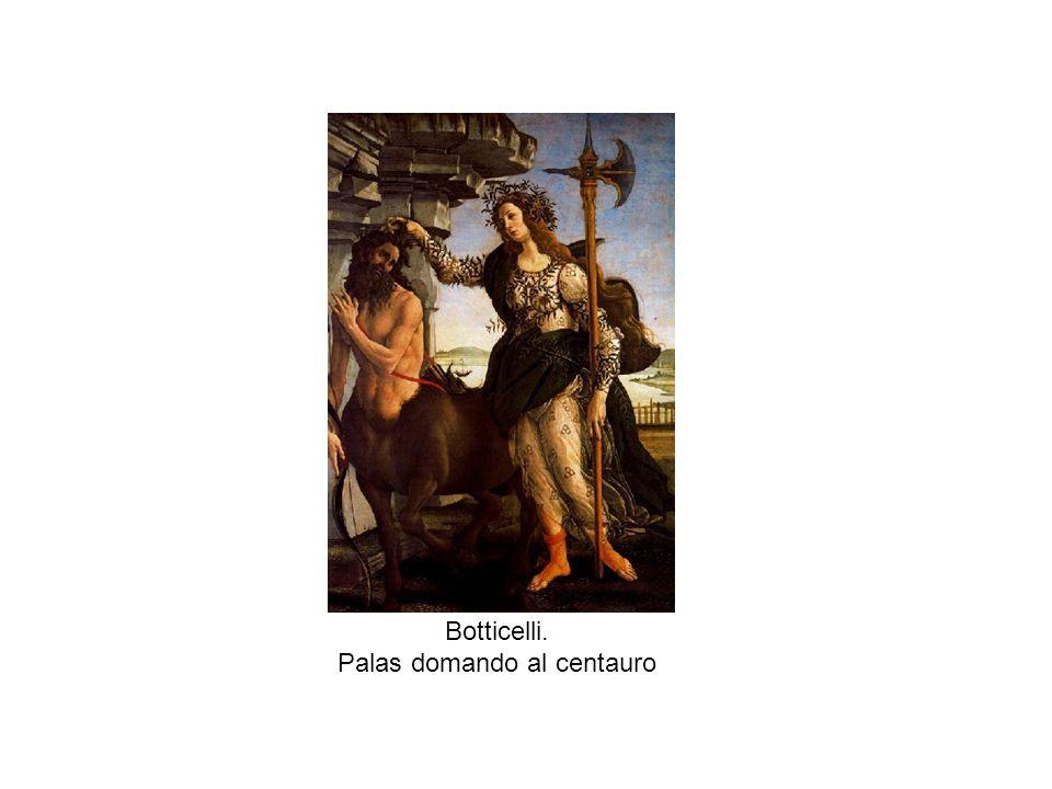 Botticelli. Palas domando al centauro