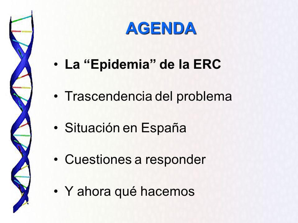 Resultados Prevalencia de ERC Oculta (FG<60 ml/min/1.73 2 y Cr< 1.1 mg/dl en Mujeres y< 1.2 mg/dl en varones ERO CAP EDADSEXO ERC Oculta N (%)IC (95%) Edad <407 (30.4)11.6-49.2 40-59115 (31.3)26.6-36.0 60-69175 (30.6)33.8-42.8 70274 (40.1)36.4-43.8 Sexo Varón0 (0)- Mujer571(53.1)50.1-56.1 EL 20 % DE LOS ADULTOS QUE ACUDEN A LOS CENTROS DE SALUD TIENEN UN FG Insuficiencia Renal UN % muy elevado de MUJERES tienen ERC OCULTA (Crs normal) FG < 60 ml/min: 14,5% ERC oculta: 10,4 % (85% mujeres)