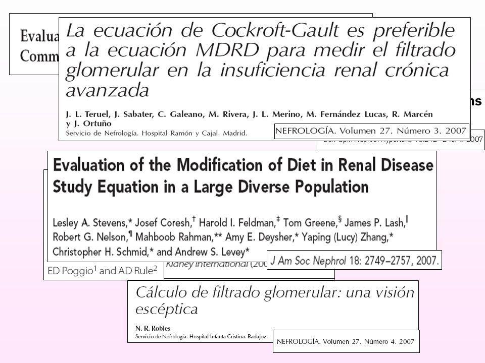 5504 pacientes 10 estudios MDRD vs FG iothalamato EDADSEXORAZA DMTXIMC