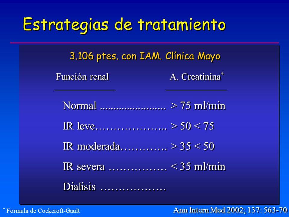 Estrategias de tratamiento Ann Intern Med 2002; 137: 563-70 Normal........................