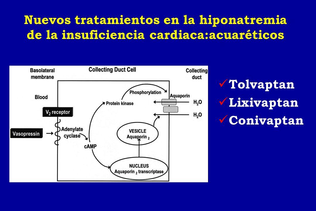 Nuevos tratamientos en la hiponatremia de la insuficiencia cardiaca:acuaréticos Tolvaptan Lixivaptan Conivaptan