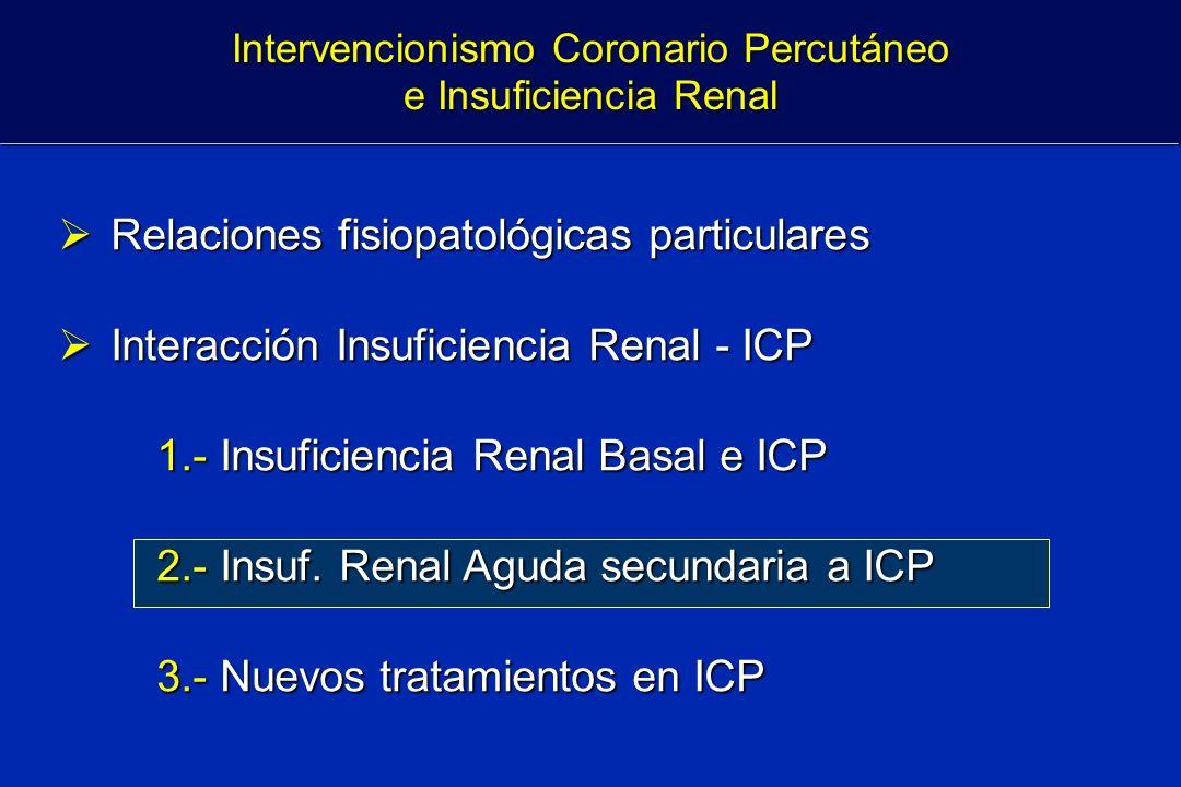 Relaciones fisiopatológicas particulares Relaciones fisiopatológicas particulares Interacción Insuficiencia Renal - ICP Interacción Insuficiencia Rena
