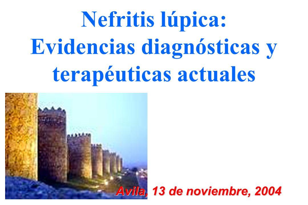 Nefritis lúpica: Evidencias diagnósticas y terapéuticas actuales Avila, 13 de noviembre, 2004