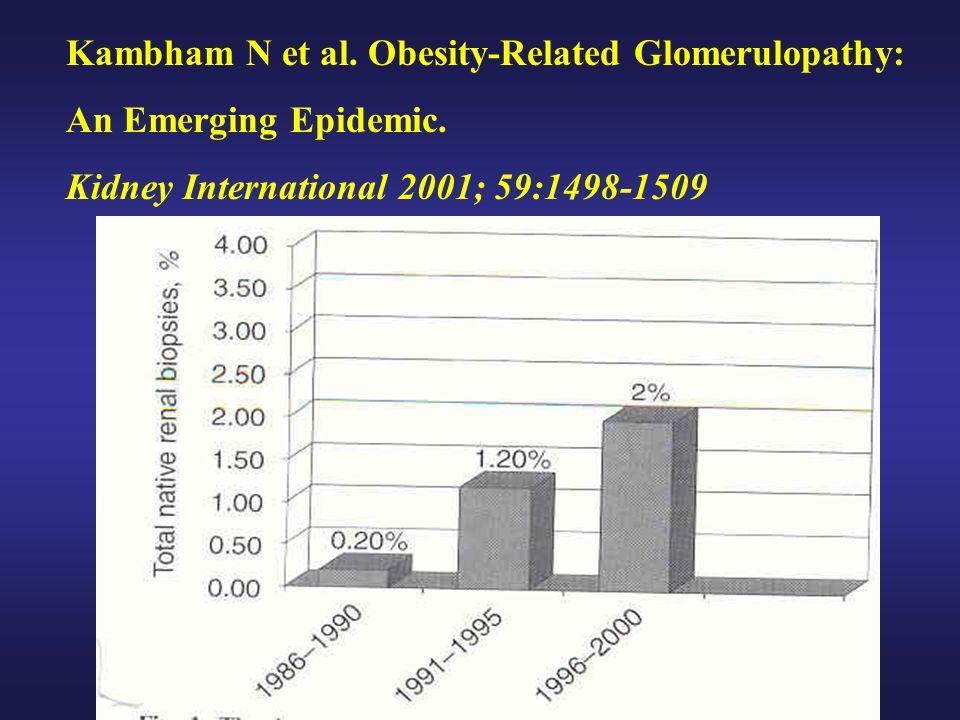 Kambham N et al. Obesity-Related Glomerulopathy: An Emerging Epidemic. Kidney International 2001; 59:1498-1509