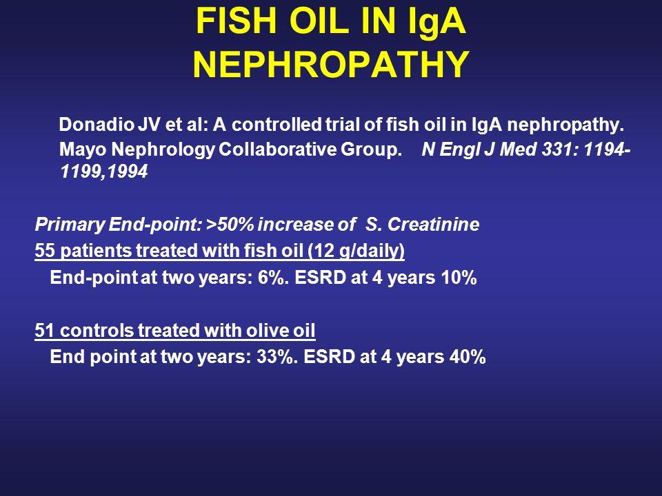 Lancet 353:883-887,1999 86 pacientes con GNIgA.Proteinuria 1-3.5 g/day.