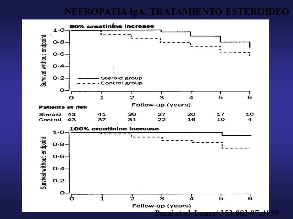 Treatment of IgA nephropathy with ACE inhibitors M.Praga, E Gutiérrez, E González, E Morales, E Hernández.
