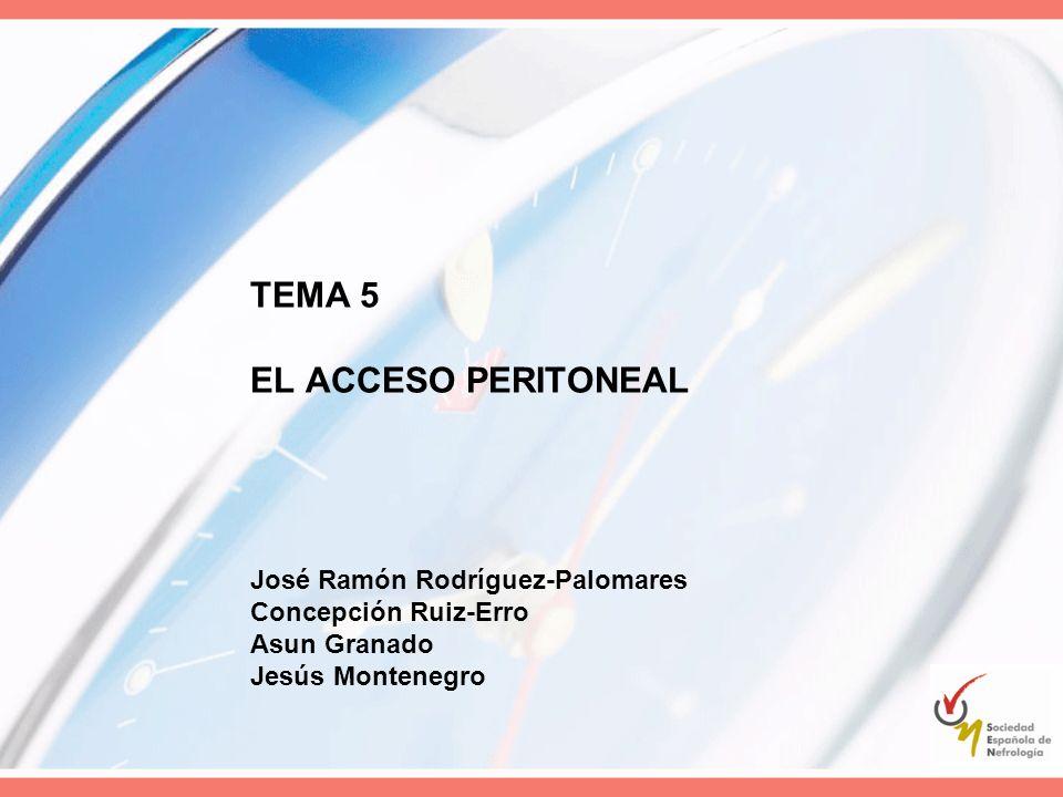 TEMA 5 EL ACCESO PERITONEAL José Ramón Rodríguez-Palomares Concepción Ruiz-Erro Asun Granado Jesús Montenegro