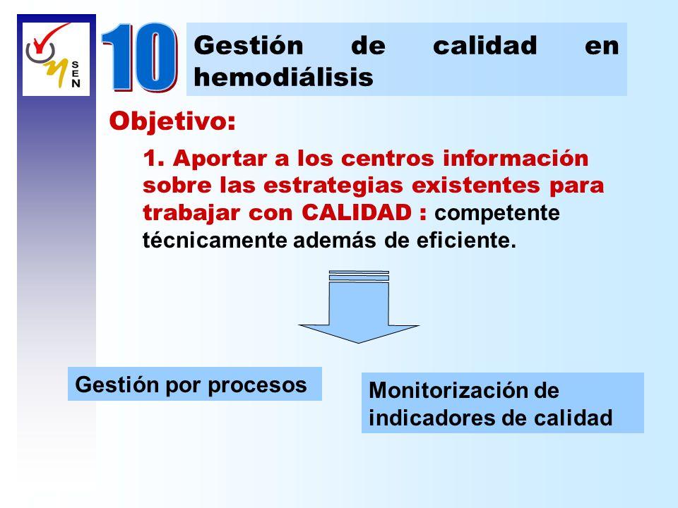 Objetivo: 1. Aportar a los centros información sobre las estrategias existentes para trabajar con CALIDAD : competente técnicamente además de eficient