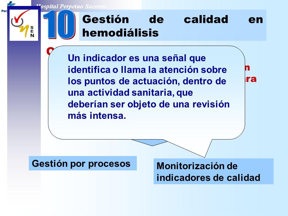 Hospital Perpetuo Socorro Objetivo: 1. Aportar a los centros información sobre las estrategias existentes para trabajar con CALIDAD : competente técni