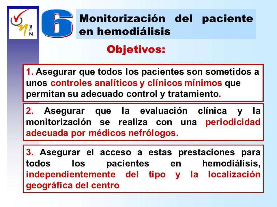 Objetivos: 1. Asegurar que todos los pacientes son sometidos a unos controles analíticos y clínicos mínimos que permitan su adecuado control y tratami