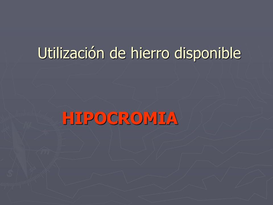 Utilización de hierro disponible HIPOCROMIA HIPOCROMIA