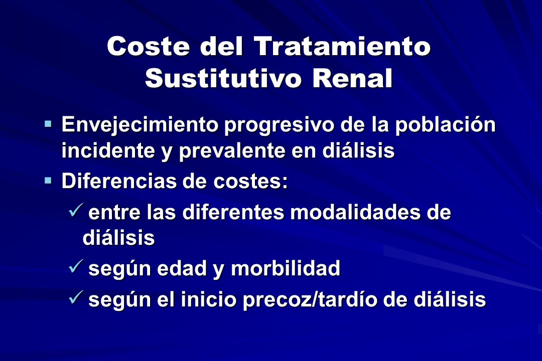 Coste por Procedimiento Se puede aplicar a un paciente-tipo o a uno concreto, calculando el coste del tratamiento global de la Unidad o de cada paciente en particular.