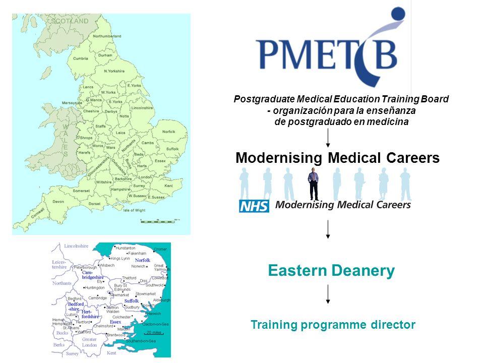 Eastern Deanery Training programme director Modernising Medical Careers Postgraduate Medical Education Training Board - organización para la enseñanza