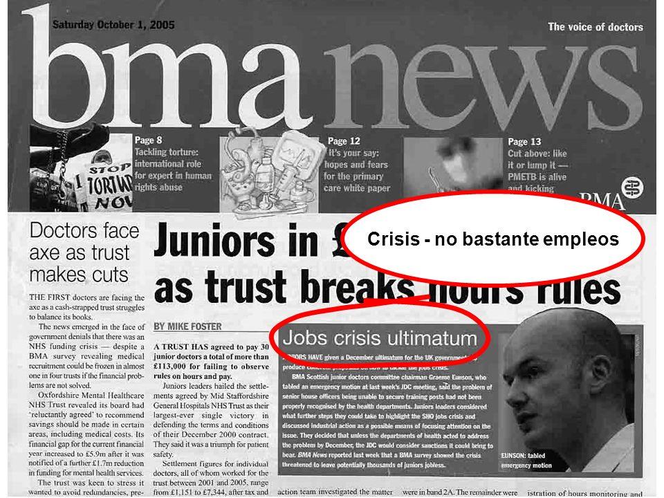 Crisis - no bastante empleos