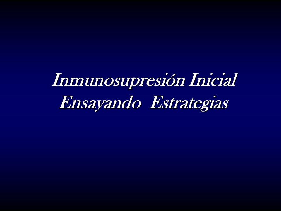 Inmunosupresión Inicial Ensayando Estrategias