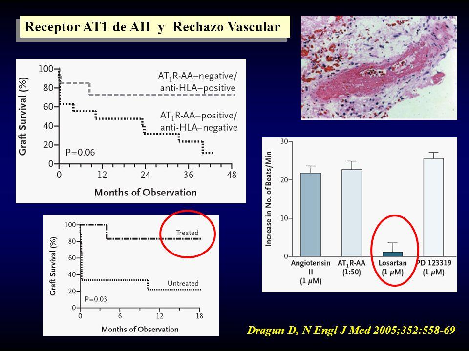 Receptor AT1 de AII y Rechazo Vascular Dragun D, N Engl J Med 2005;352:558-69