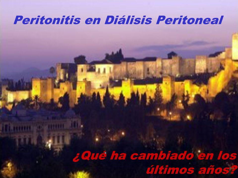 Peritonitis en Diálisis Peritoneal ¿Qué ha cambiado en los últimos años?