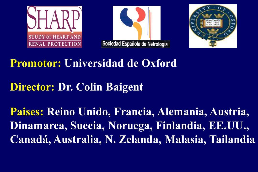 Promotor: Universidad de Oxford Director: Dr. Colin Baigent Paises: Reino Unido, Francia, Alemania, Austria, Dinamarca, Suecia, Noruega, Finlandia, EE