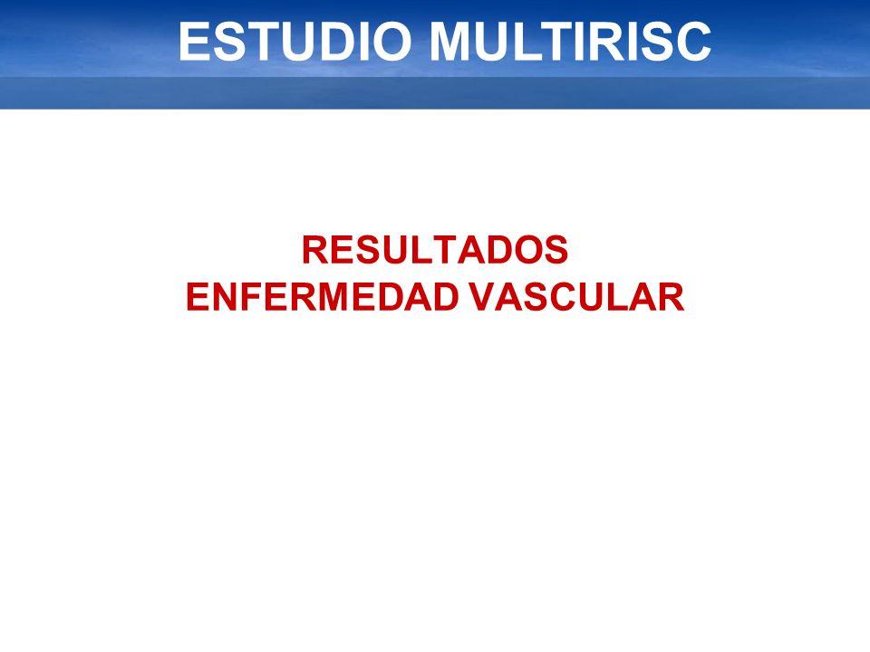 ESTUDIO MULTIRISC RESULTADOS ENFERMEDAD VASCULAR