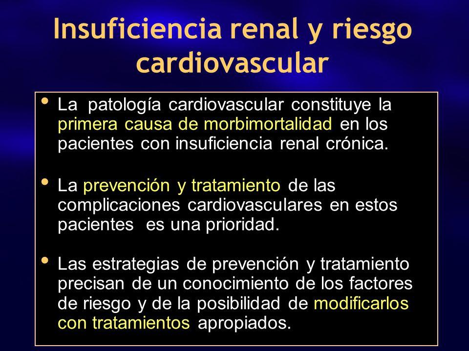 La patología cardiovascular constituye la primera causa de morbimortalidad en los pacientes con insuficiencia renal crónica. La prevención y tratamien