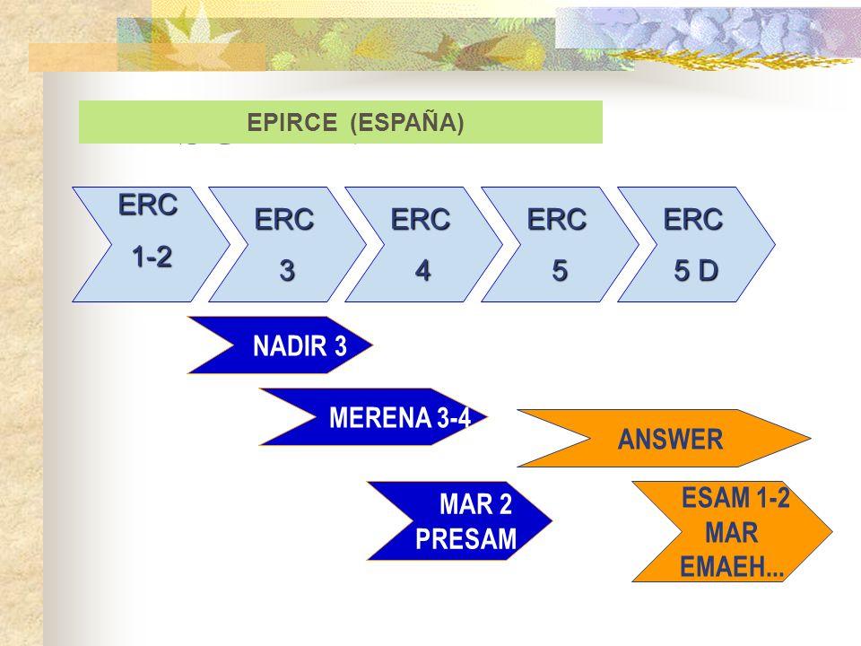 RESUMEN NADIR 3 ESAM 1-2 MAR EMAEH... EPIRCE (ESPAÑA) ERC1-2 ERC3 ERC5 ERC4 ERC 5 D MERENA 3-4 ANSWER MAR 2 PRESAM