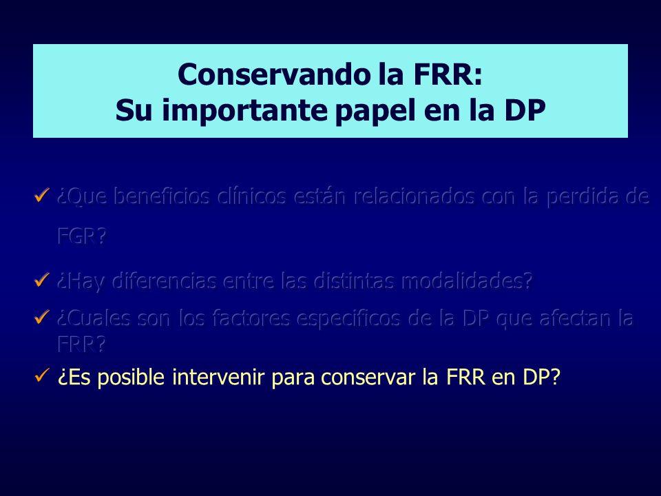 Conservando la FRR: Su importante papel en la DP
