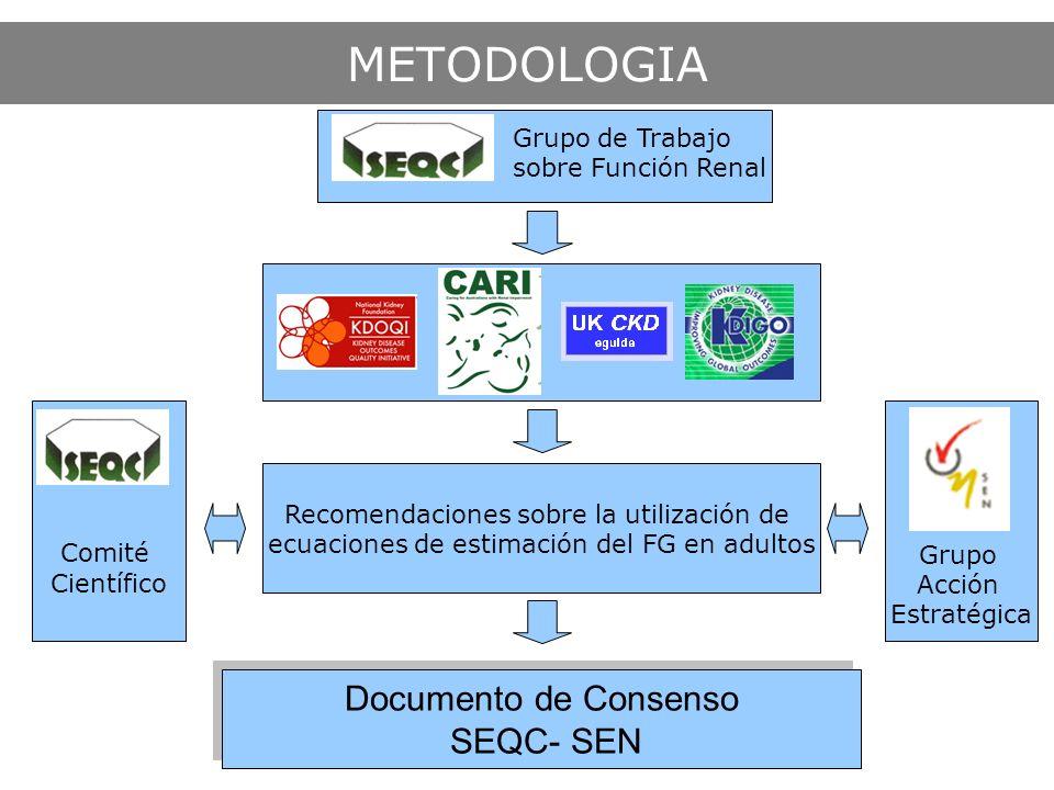 METODOLOGIA Documento de Consenso SEQC- SEN Documento de Consenso SEQC- SEN Grupo Acción Estratégica Comité Científico Grupo de Trabajo sobre Función