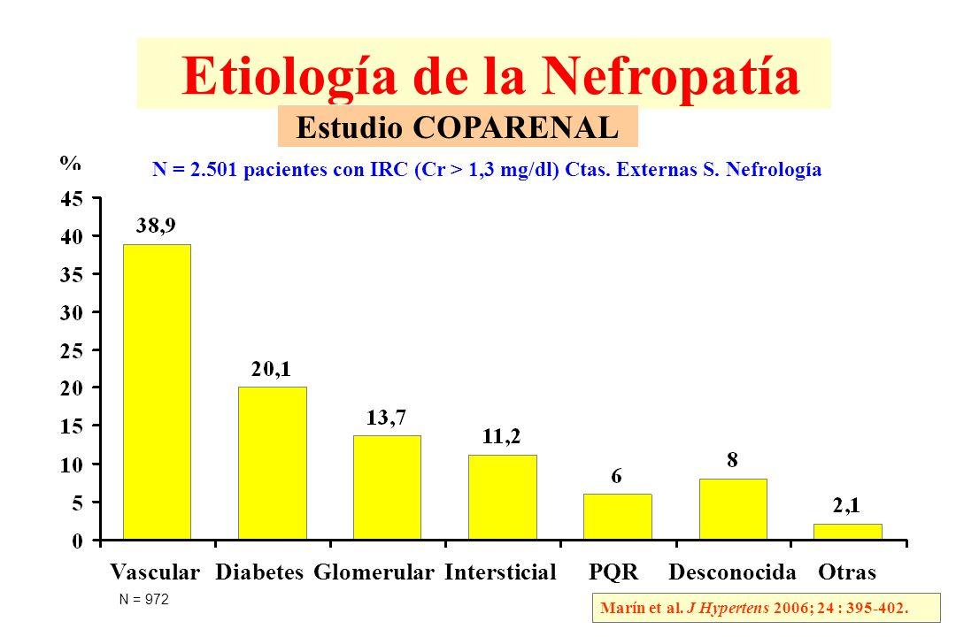 IRC: Estudios de Progresión en Nefropatía No Diabética Marín R.