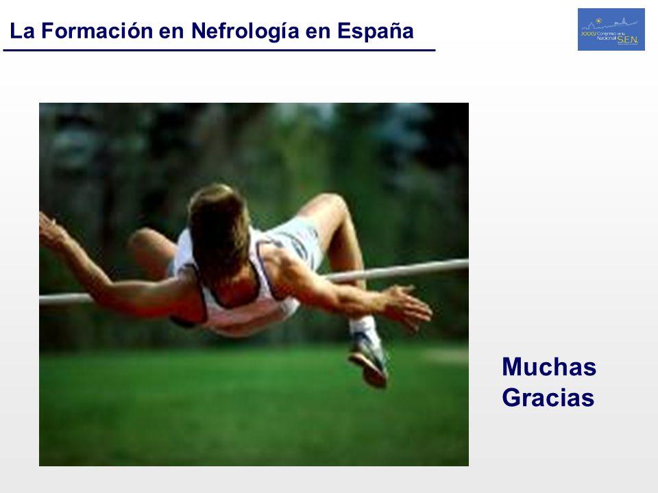 La Formación en Nefrología en España Muchas Gracias