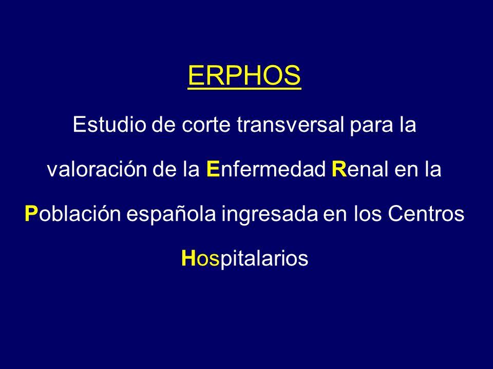 ERPHOS Estudio de corte transversal para la valoración de la Enfermedad Renal en la Población española ingresada en los Centros Hospitalarios