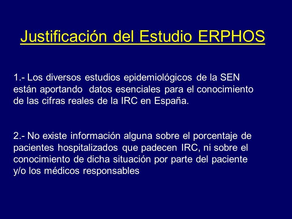 1.- Los diversos estudios epidemiológicos de la SEN están aportando datos esenciales para el conocimiento de las cifras reales de la IRC en España. 2.