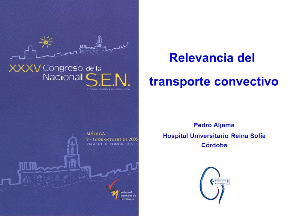 Pedro Aljama Hospital Universitario Reina Sofía Córdoba Relevancia del transporte convectivo