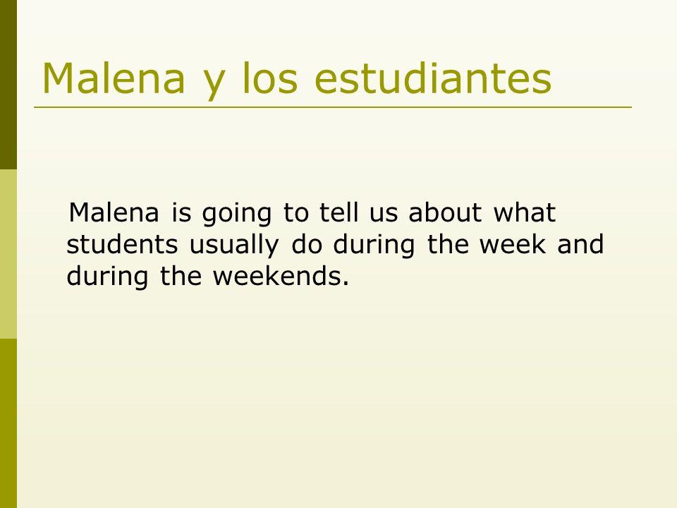 Durante la semana Los estudiantes van a la biblioteca. Estudian en la biblioteca.