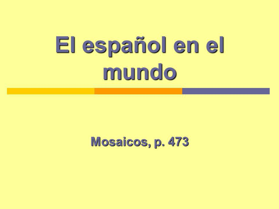 El español en el mundo Mosaicos, p. 473