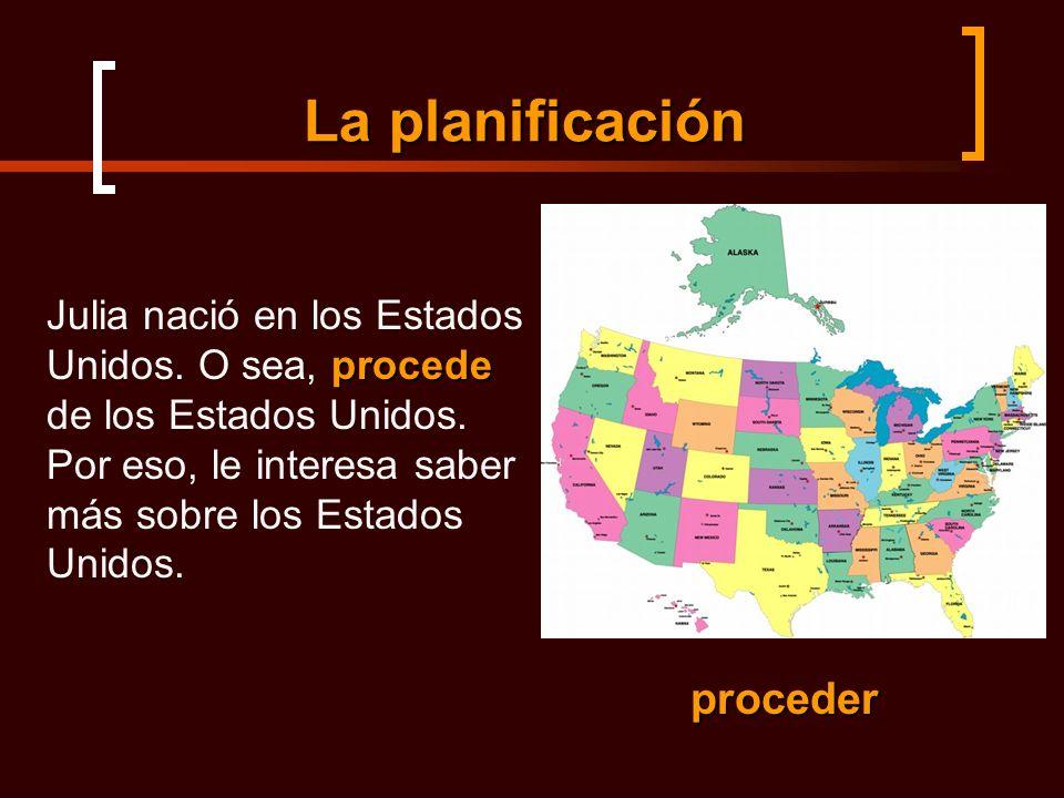 La planificación procede Julia nació en los Estados Unidos.
