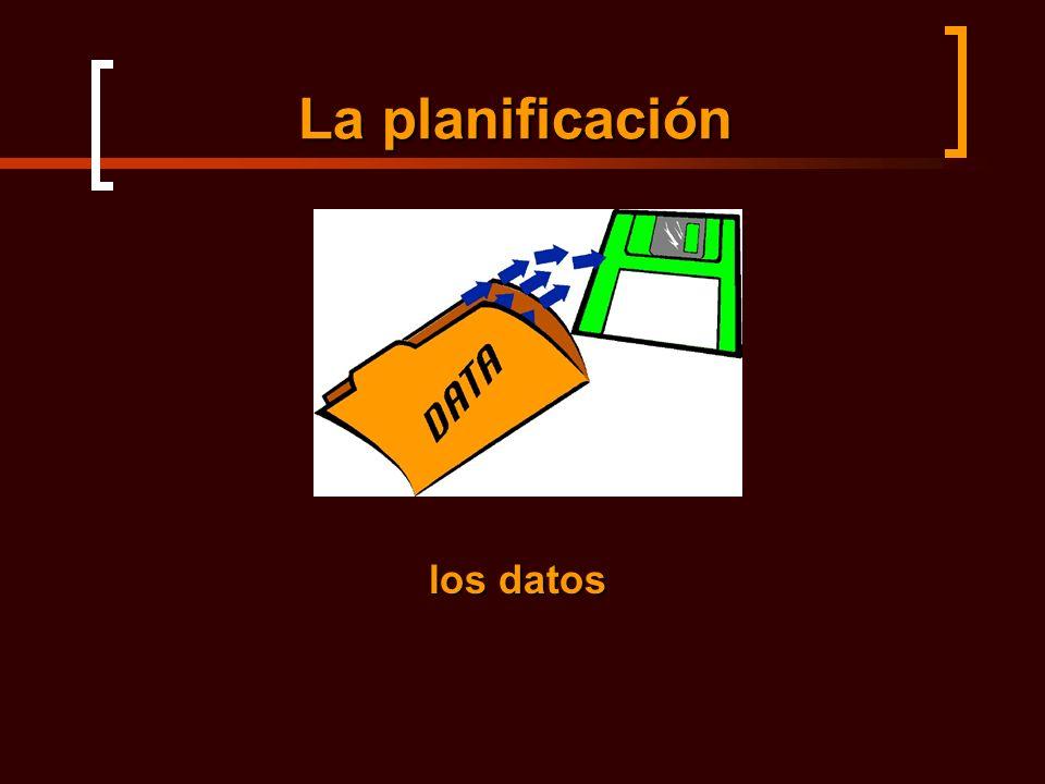 La planificación los datos