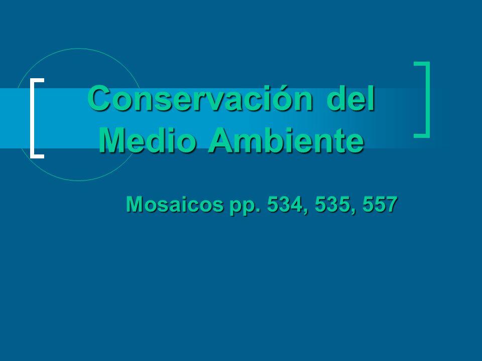 Conservación del Medio Ambiente Mosaicos pp. 534, 535, 557