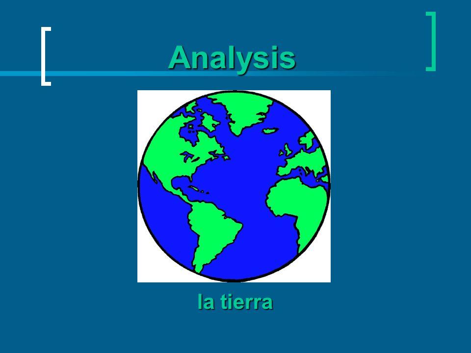 Analysis la tierra