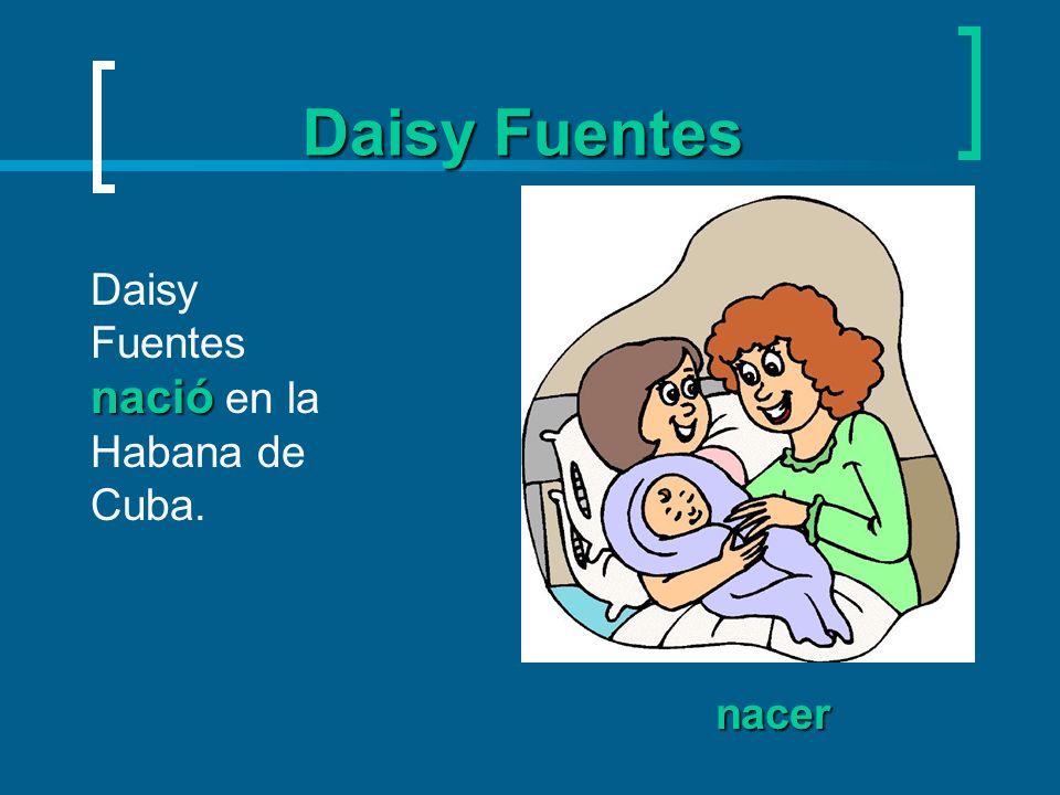 Daisy Fuentes alcanzar alcanzar = to reach