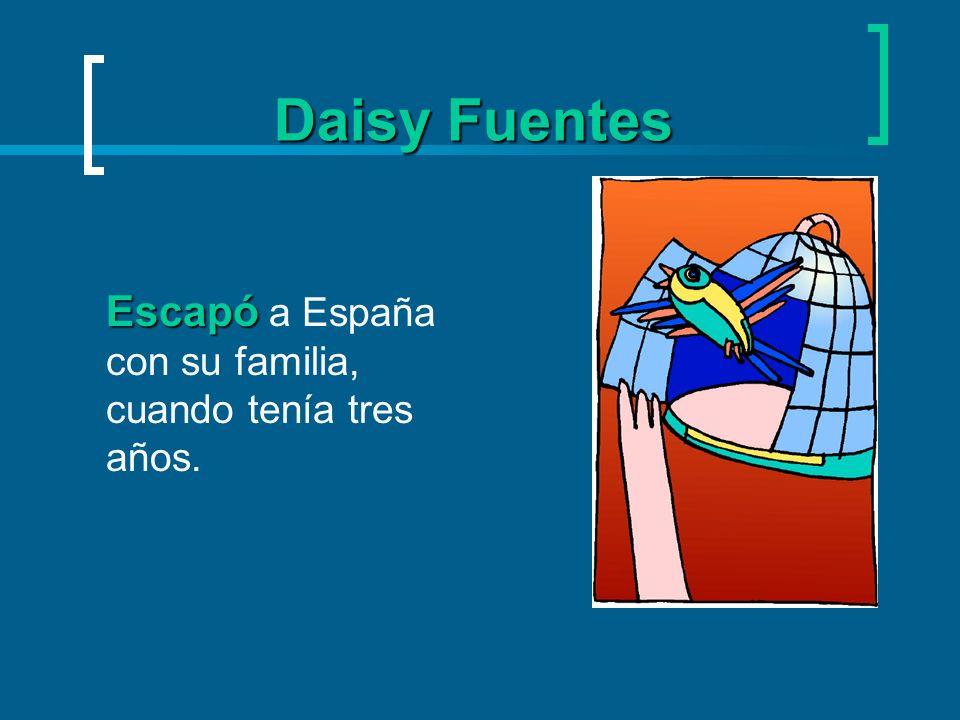 Daisy Fuentes la edad la edad emigró A la edad de 7 años, emigró a Nueva Jersey.