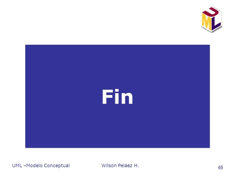 UML –Modelo ConceptualWilson Peláez H. 65 Fin