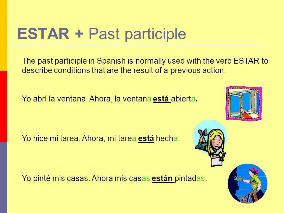 Práctica Complete the following sentences with the correct verb: Lucía está _____________ en el sofá.