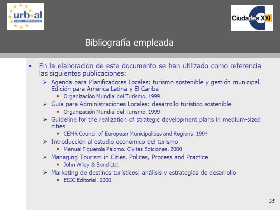 35 Bibliografía empleada En la elaboración de este documento se han utilizado como referencia las siguientes publicaciones: Agenda para Planificadores