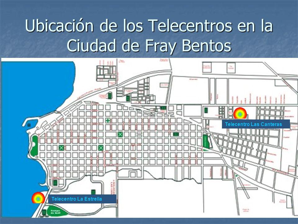 Ubicación de los Telecentros en la Ciudad de Fray Bentos Telecentro La Estrella Telecentro Las Canteras