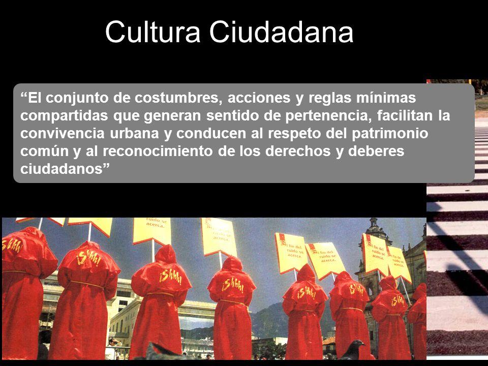 Cultura Ciudadana Mínimo de reglas compartidas para aprovechar y gozar la pluralidad cultural y moral. Regulación cultural de las interacciones entre